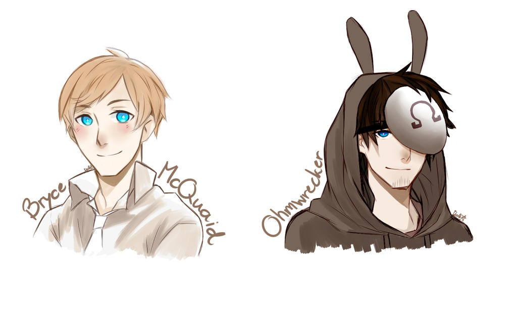Ohmwrecker and Bryce by CharlotteAlpha on DeviantArt H20 Delirious Fan Art