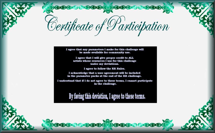 RR Participation Certificate by DWALKER1047