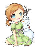 anna and olaf commission for katie0513