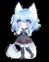 Wolfychu Chibi by blavk