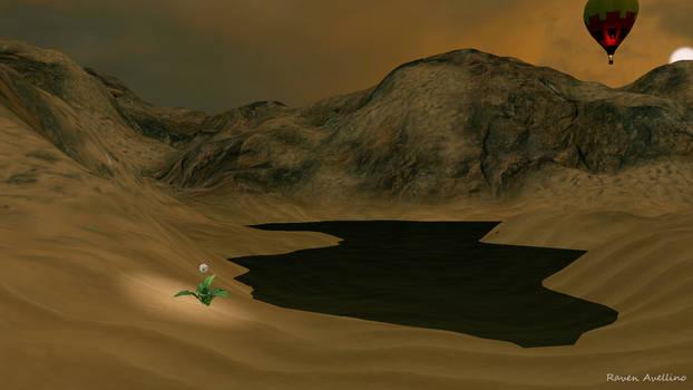 Desert Float...and a Dandelion