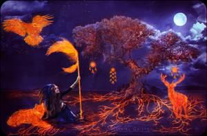 Awakening of the Shaman Tree by VeilaKs