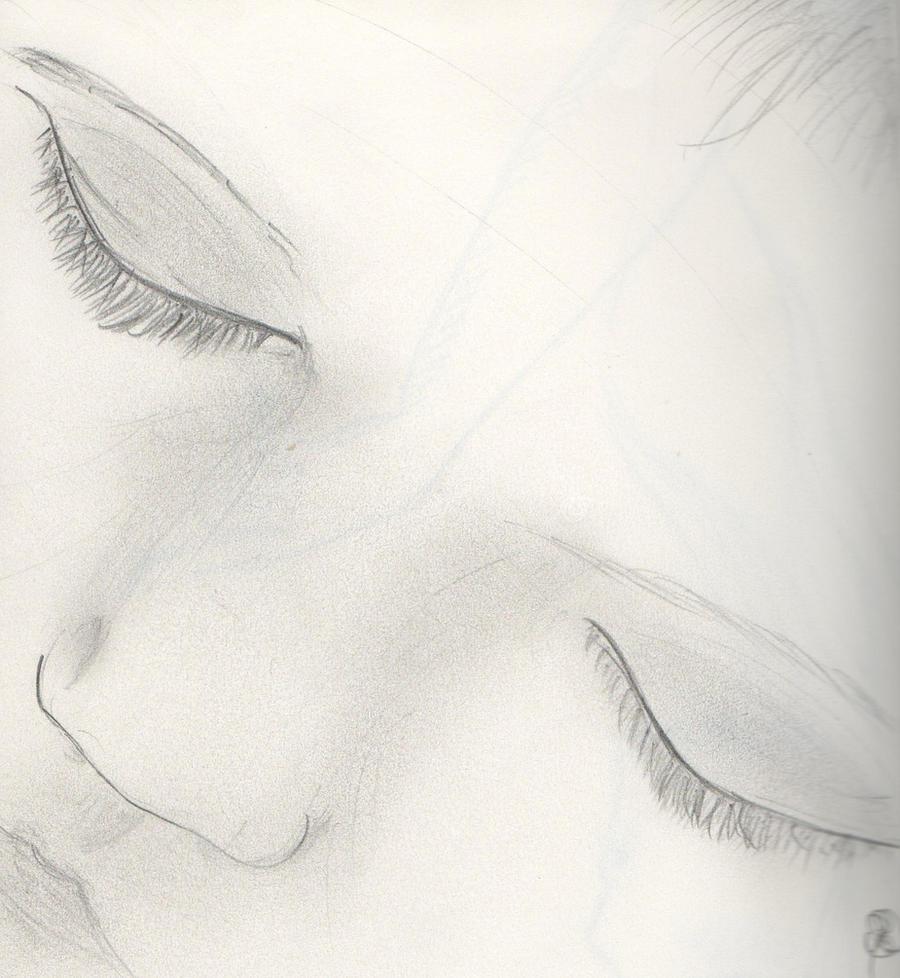 Sleeping Baby sketch by Randomoart on DeviantArt