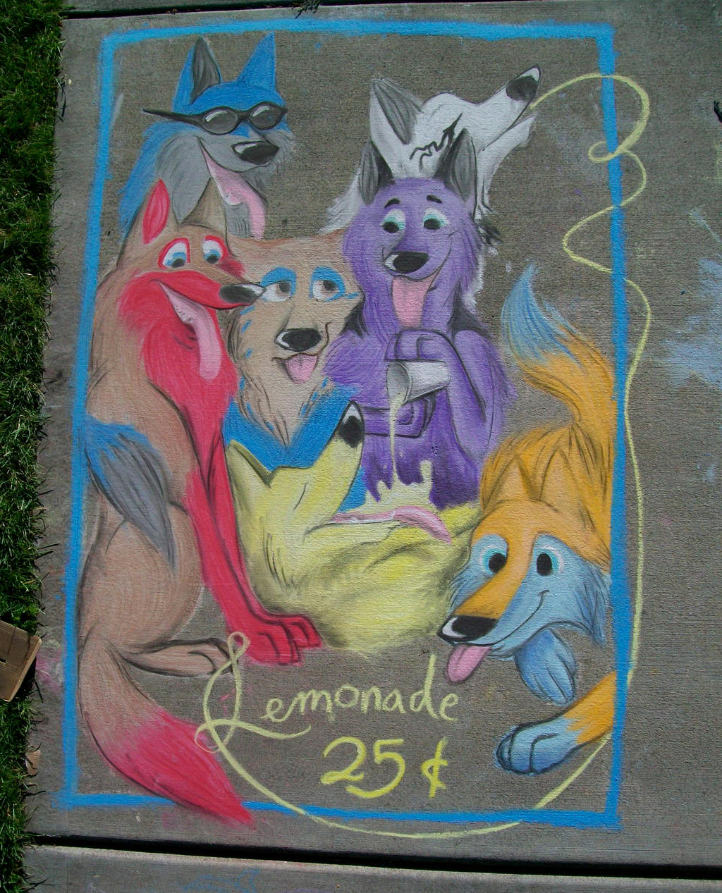 Pack with Lemonade Chalk by AmmyWolf95