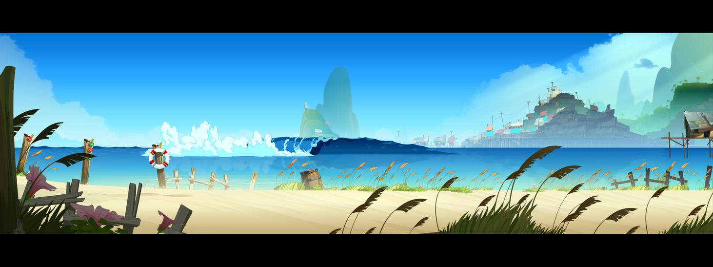 BG dev beach by cyrilcorallo