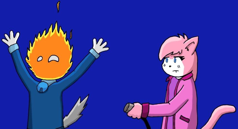 Leo's caught fire by katuysha