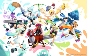 Splatoon: Let's paint the world!! by PokeyPokums