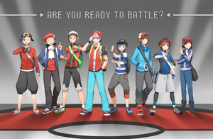 Pokemon (Male Protags) by PokeyPokums
