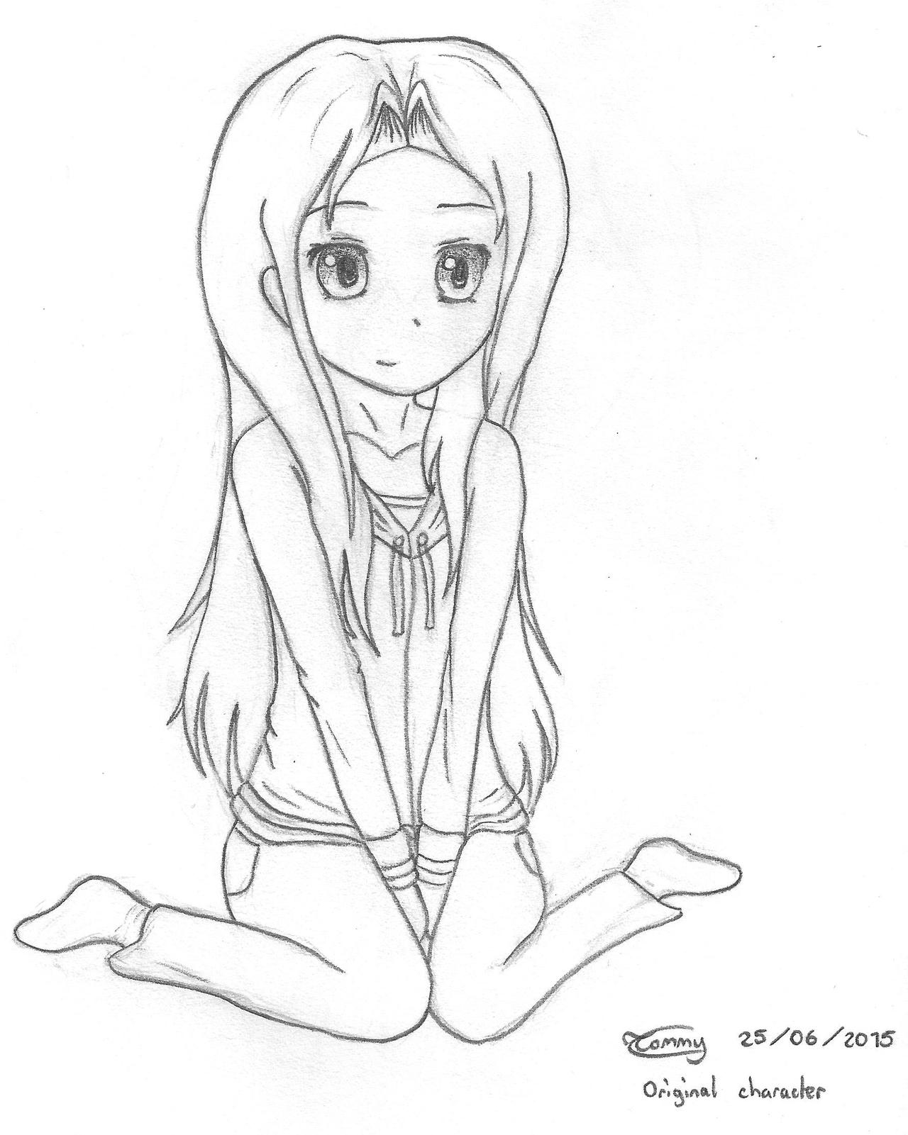 Girl Sitting Down By Tommychasseur On DeviantArt