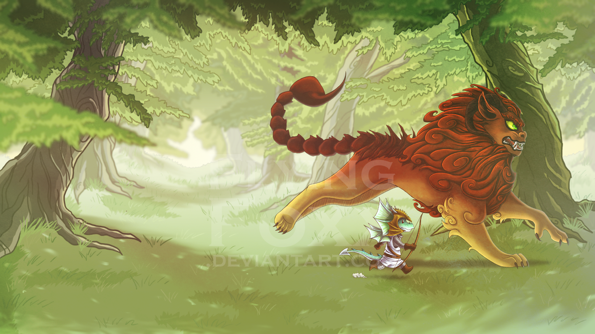 Tiny Dragon Warrior by Flying-Foxx