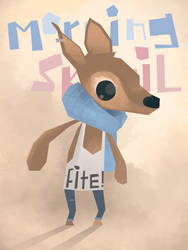 Fighty Deer by westykid