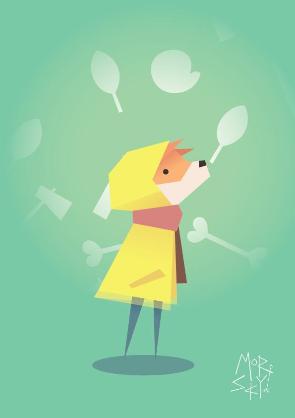 Fox in a raincoat by westykid