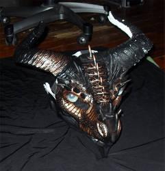 Copper Dragon Mask by Crovv
