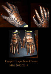 Copper Dragon Gloves by Crovv