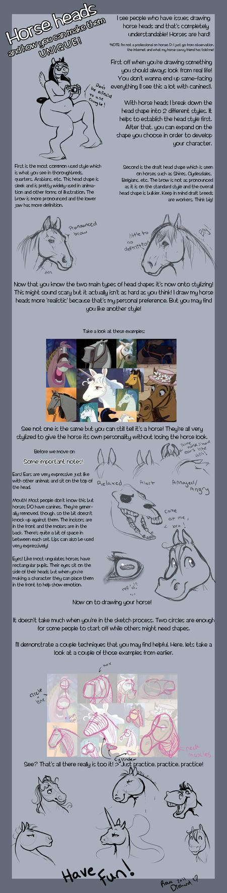 Horse head tutorial thing by RevaDiehard