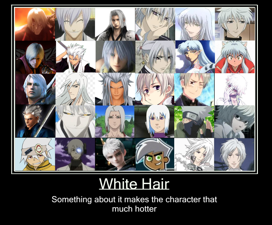 White/Silver Hair by nizzie12