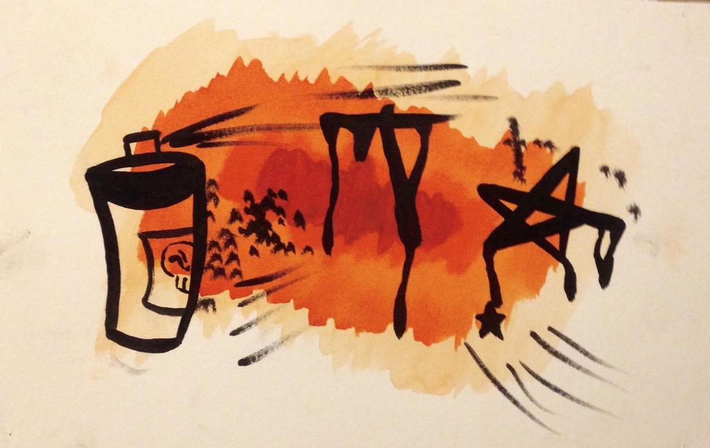 Watercolor Graffiti by nizzie12