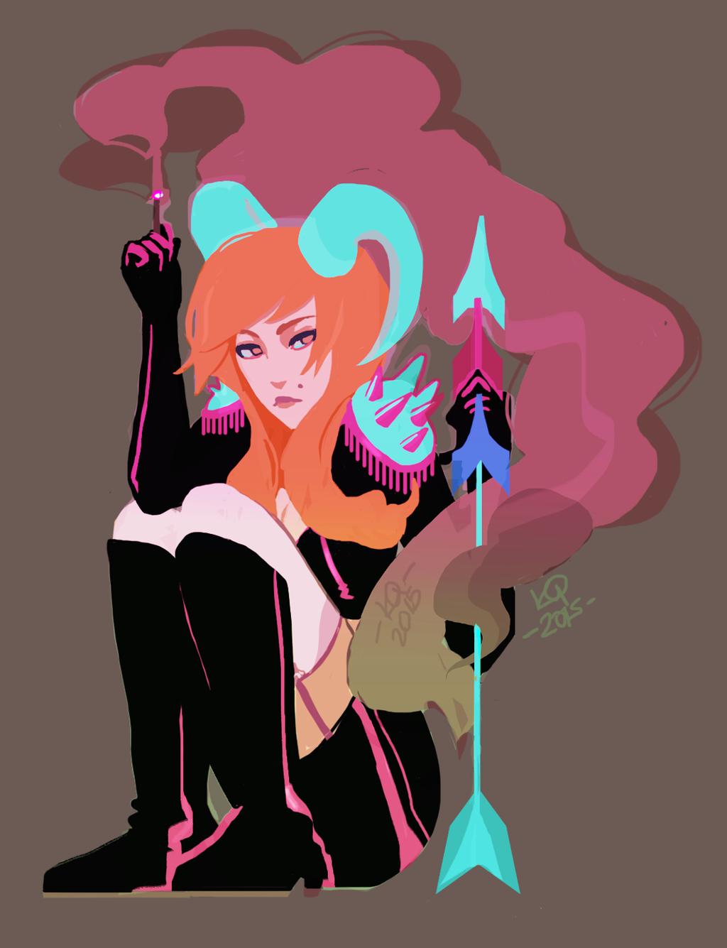 demon girl sticker 2 by artmunnn