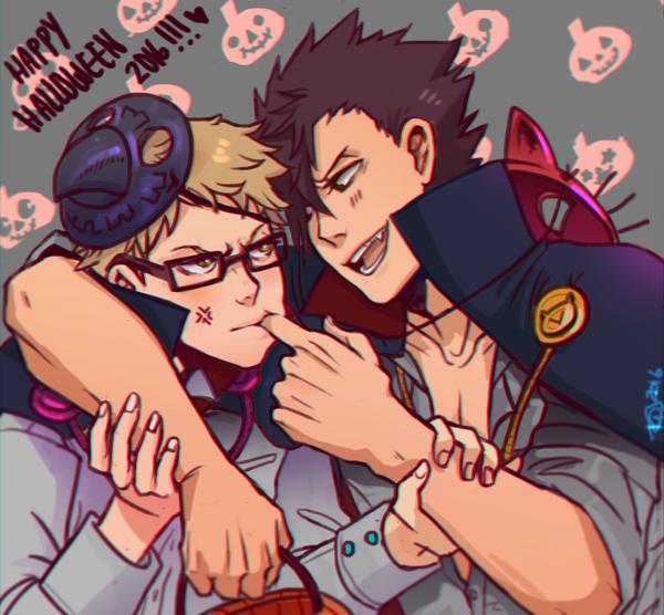 Happy KurooTsukki Halloween by artmunnn