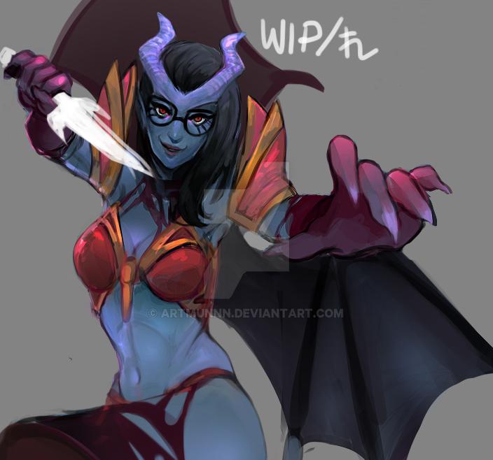 WIP!QueenOfPain by artmunnn