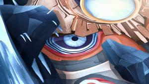 Big Talking Head, detail 02