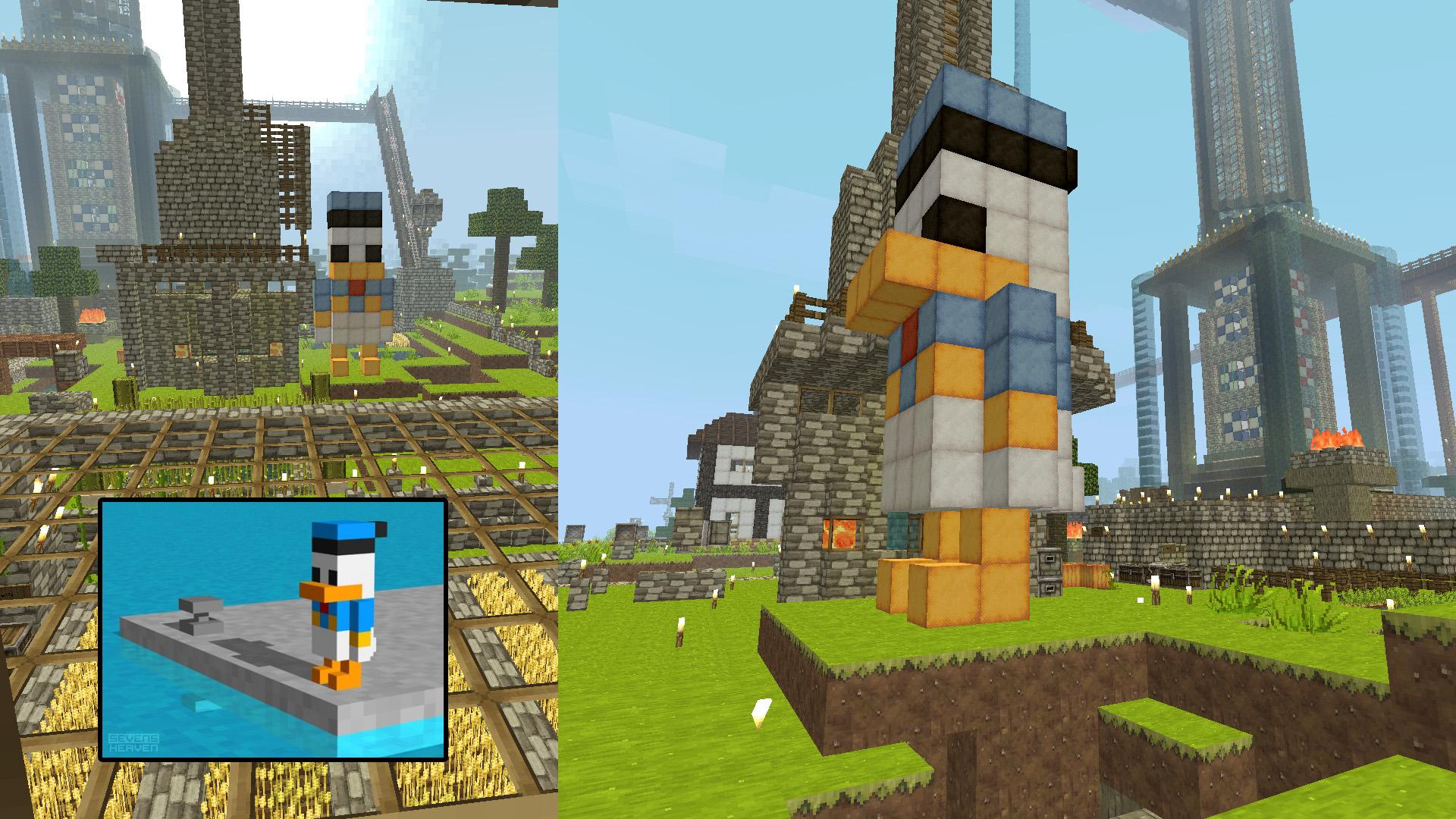 Minecraft 3d Donald Duck Pixel Art By Shadowdame On Deviantart