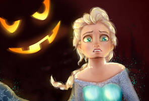 Halloween Elsa - fear by AkuAmi
