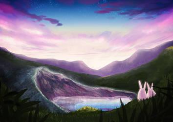 Okama white bunny