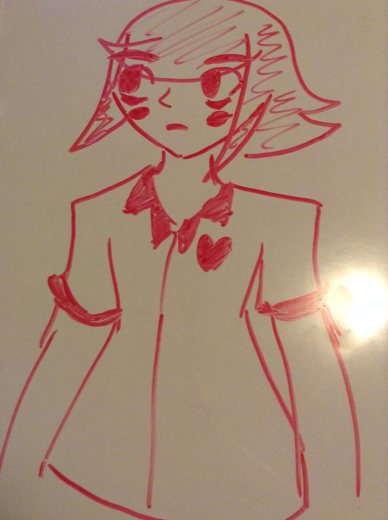 Haou on a white board by Runningstar1212