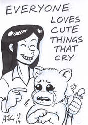Sketch card - Everyone Loves Cute Things That Cry by FavouriteCrayon