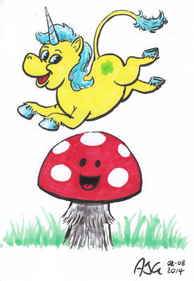 Sketch card - Mushroomicorn