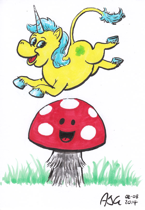 Sketch card - Mushroomicorn