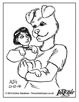 Inktober '14 - Canine Girl