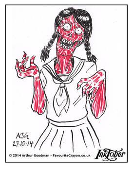 Inktober '14 - Gruesome Girl