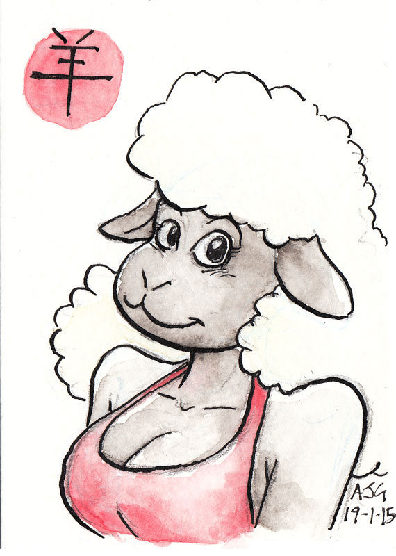 ACEO - Year of the Sheep 3