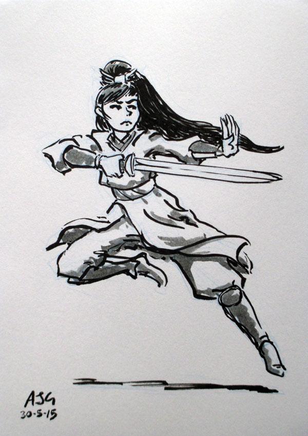 Sketch card - Wu Xia Warrior