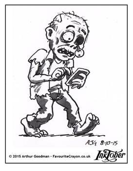 Inktober Drawlloween '15 - Zombie