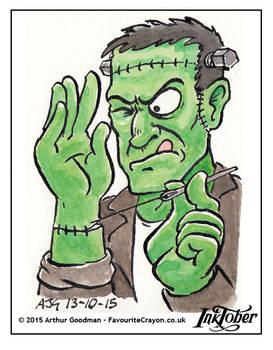 Inktober Drawlloween '15 - Frankenstein