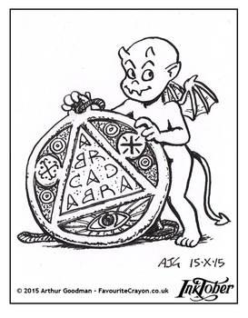 Inktober Drawlloween '15 - Amulet