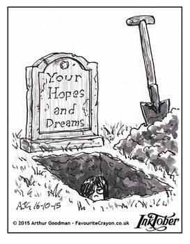 Inktober Drawlloween '15 - Grave