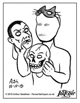 Inktober Drawlloween '15 - Mask