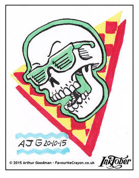 Inktober Drawlloween '15 - Skull