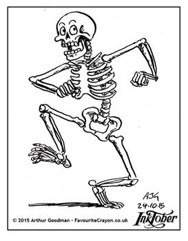 Inktober Drawlloween '15 - Skeleton