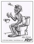 Inktober Drawlloween '15 - Mummy