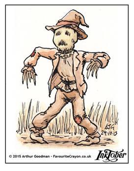 Inktober Drawlloween '15 - Scarecrow