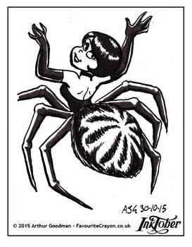 Inktober Drawlloween '15 - Spider