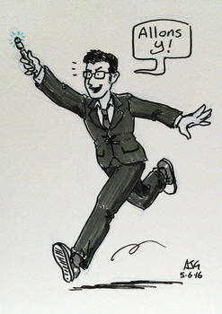 Sketch card - The Tenth Doctor