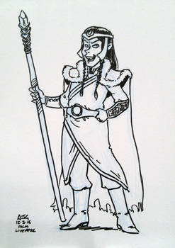 Sketch card - Mystic Villain