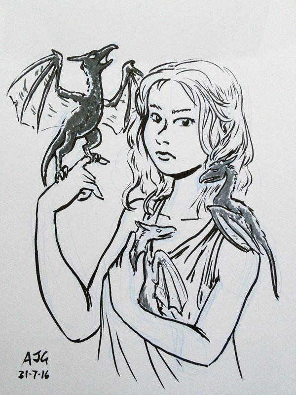 Sketch card - ASoIaF: Daenerys Targaryen