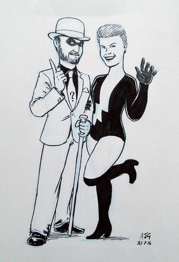 Sketch - Riddler and Livewire